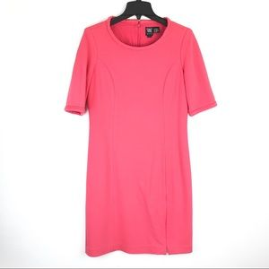 W by Worth Pink Sheath Dress Career Work Sz 12